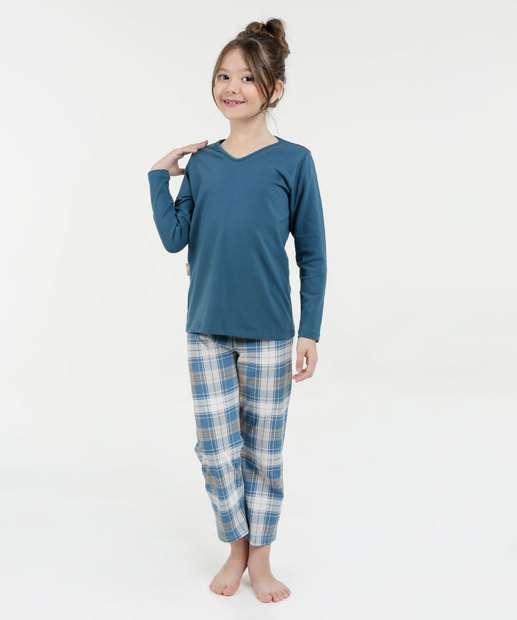 Image_Pijama Infantil Estampa Xadrez Manga Longa Lupo
