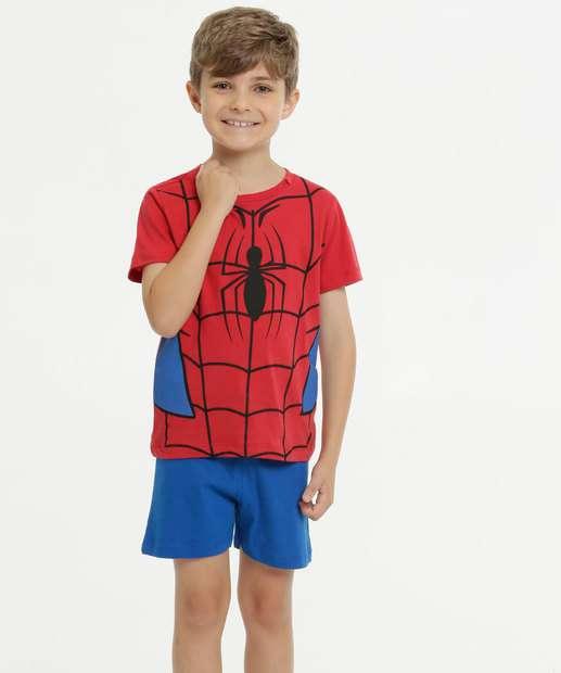 Image_Pijama Infantil Homem Aranha Capuz Manga Curta  Marvel