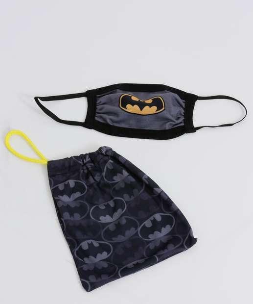 Image_Kit Máscara Proteção Infantil Estampa Batman Warner Bros