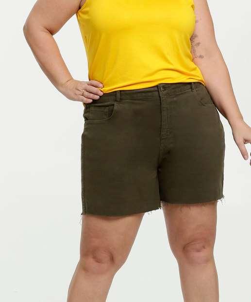 Image_Bermuda Feminina Sarja Plus Size Barra Desfiada Marisa