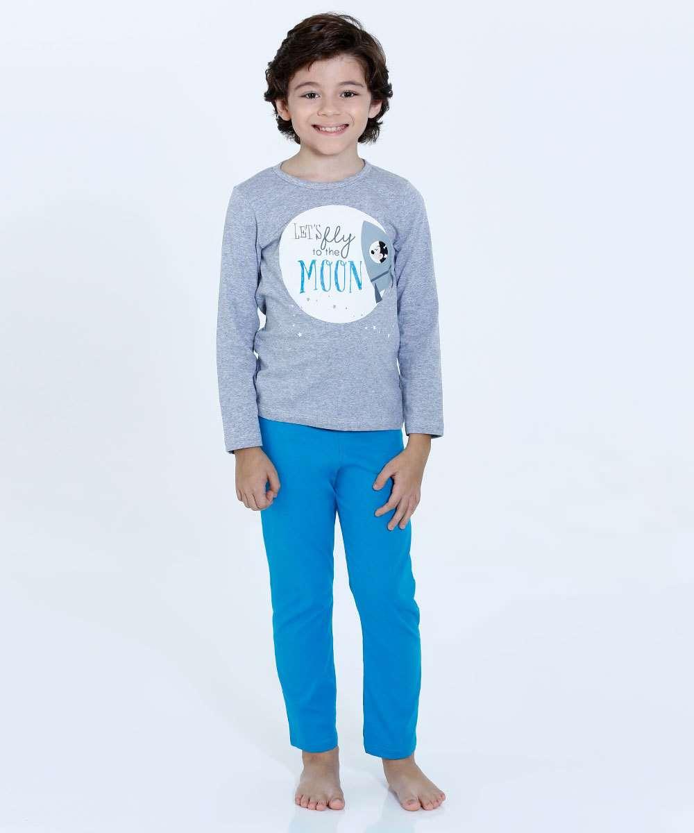 0b6116261 Pijama Infantil Manga Longa Xadrez Minnie Disney