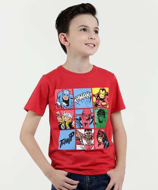 Image_Camiseta Infantil Super Heróis Manga Curta Marvel
