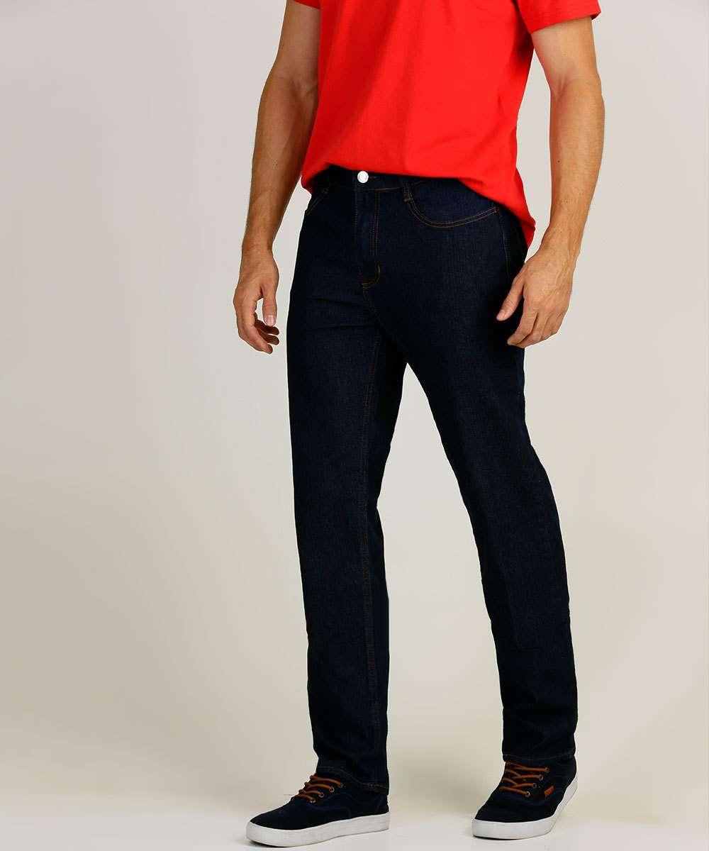 Calça Masculina Jeans Delavê Slim