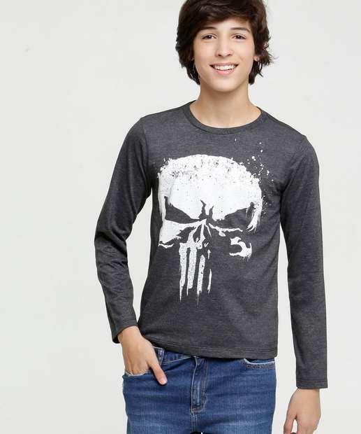 Image_Camiseta Juvenil Estampa Justiceiro Marvel