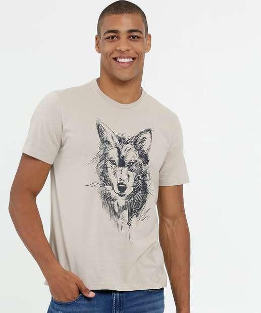 Image_Camiseta Masculina Estampa Lobo Manga Curta MR