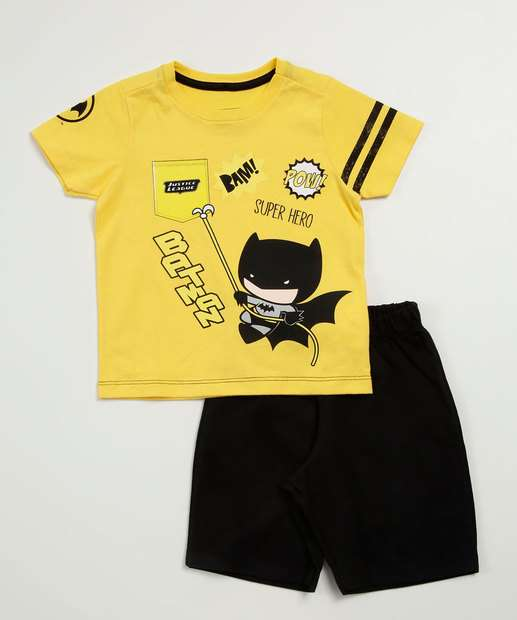 Image_Conjunto Infantil  Batman Manga Curta Liga da Justiça
