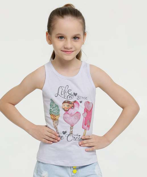 Image_Regata Infantil Glitter Estampa Sorvetes