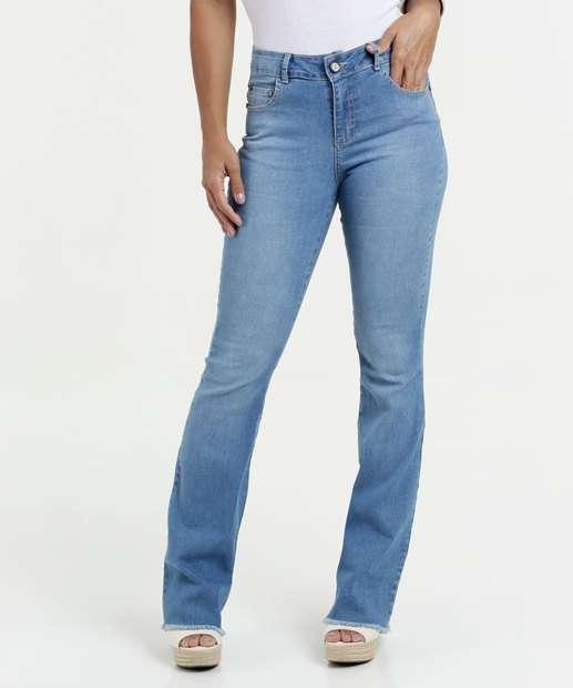 Image_Calça Jeans Feminina Flare Cintura Média Gups