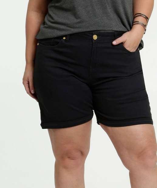 Image_Short Feminino Sarja Barra Dobrada Plus Size