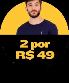 2 Camisetas masculinas por R$49