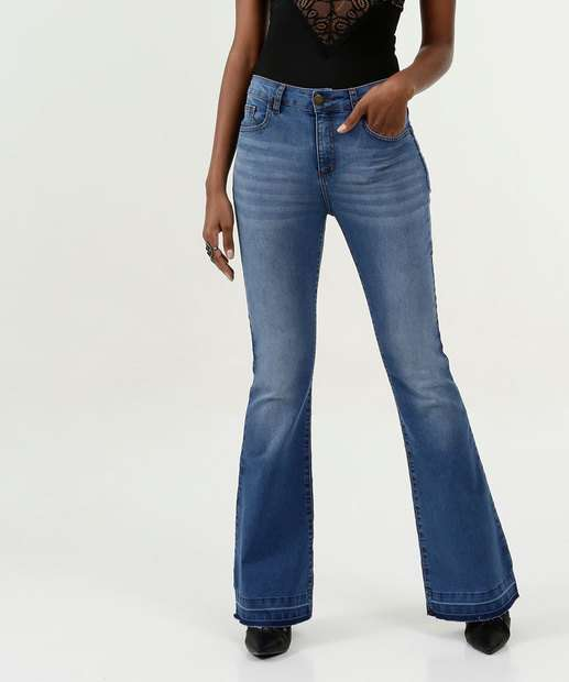 Image_Calça Feminina Jeans Flare Stretch Marisa