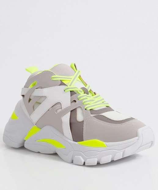 Image_Tênis Feminino Chunky Sneaker Recorte Neon Zatz