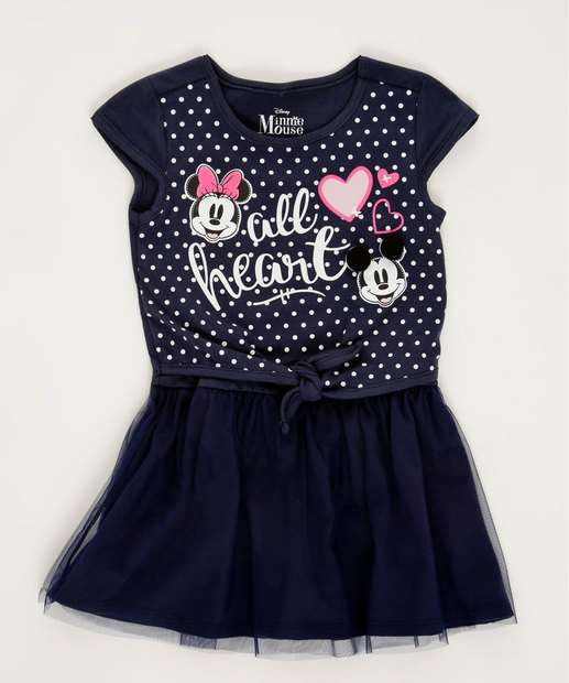 Image_Vestido Infantil Estampa Mickey e Minnie Disney