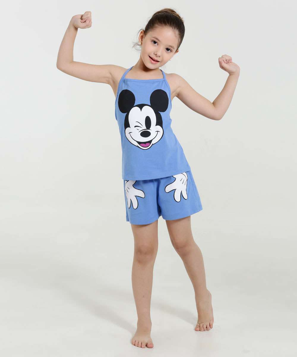 Image_Pijama Infantil Short Doll  Mickey Disney