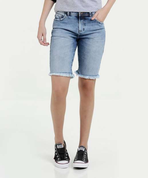 Image_Bermuda Feminina Jeans Puídos Marisa