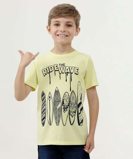 Image_Camiseta Infantil Estampa Surf Manga Curta Marisa