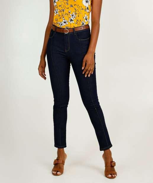 Image_Calça Jeans Skinny Feminina Bolsos