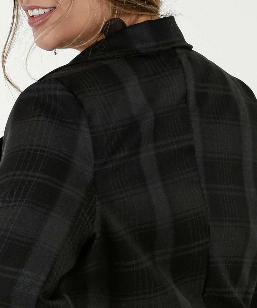 5482b95a55 1  2  3  4  5  6  7. Compartilhar. adicionar aos favoritos produto  favoritado. Blazer Feminino Xadrez Manga Longa Plus Size Razon