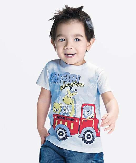 Image_Camiseta Infantil Estampa Divertida Manga Curta