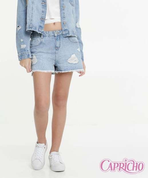 Image_Short Juvenil Jeans Destroyed Capricho Tam 10 a 16