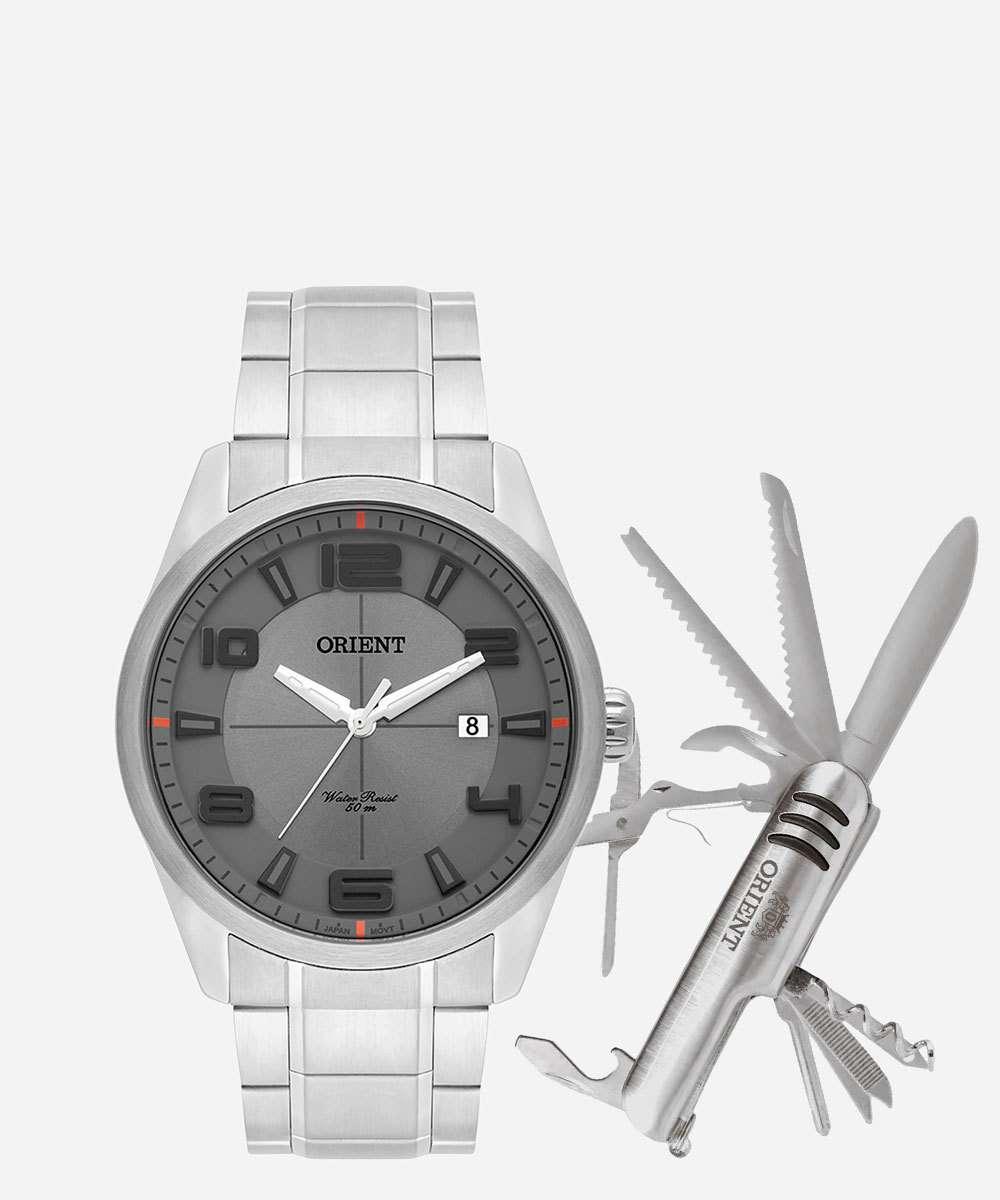 Kit Relógio Masculino Orient MBSS1297 KB77G2SX