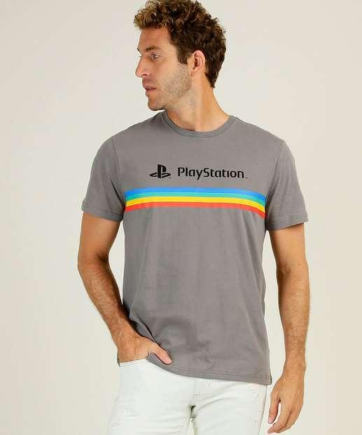 Image_Camiseta Masculina Listras Manga Curta PlayStation
