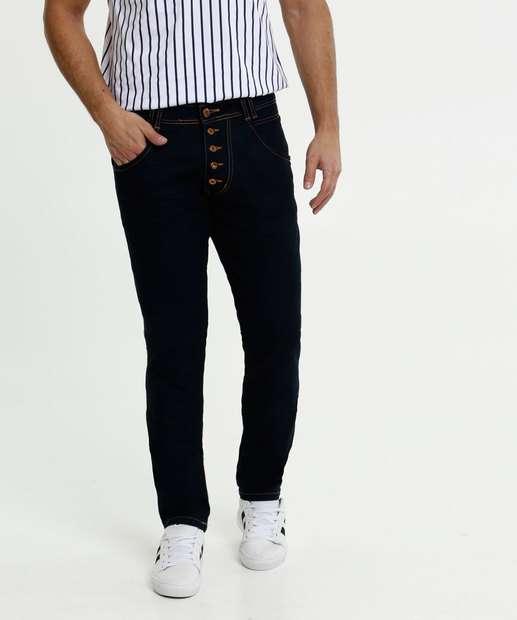 Image_Calça Masculina Jeans Slim Botões Biotipo