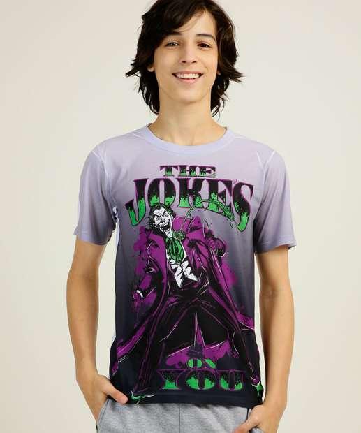 Image_Camiseta Juvenil Estampa Coringa Warner Bros  Tam 10 a 16