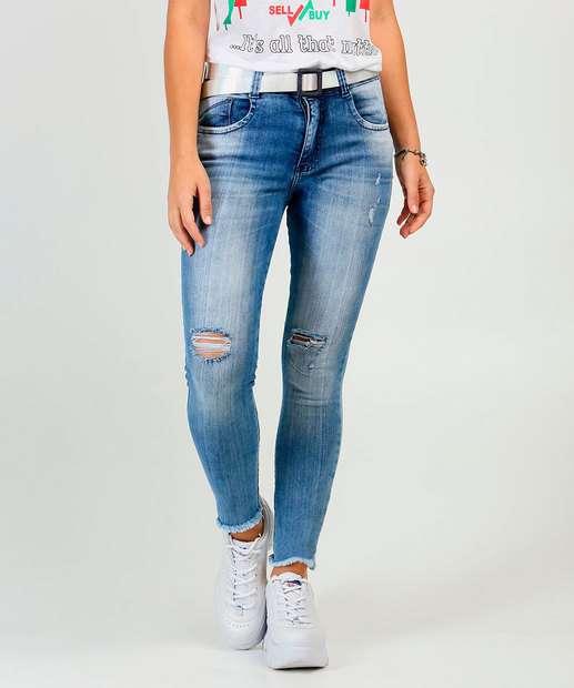 Image_Calça Jeans Destroyed Skinny Feminina Cinto Biotipo