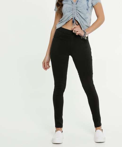 Image_Calça Feminina Bengaline Skinny Cintura Média Zune Jeans