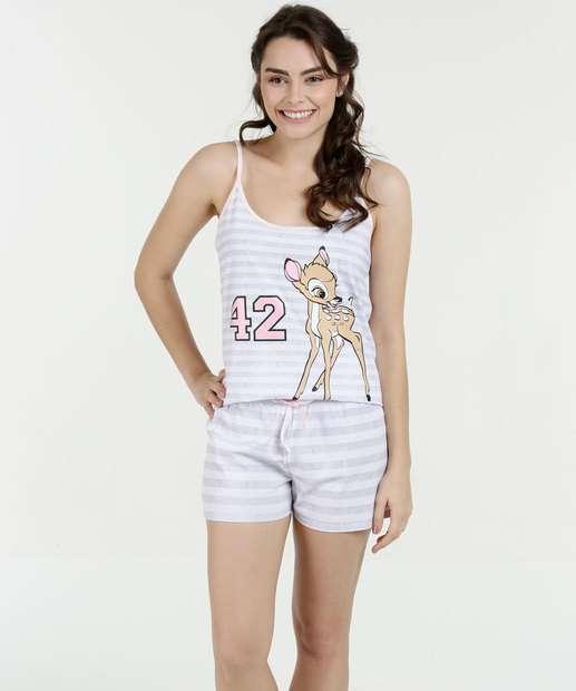 Image_Pijama Feminino Short Doll Estampa Bambi Disney