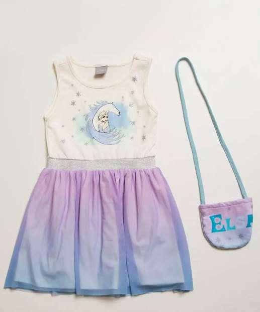 Image_Vestido Infantil Estampa Frozen Brilho Brinde Disney