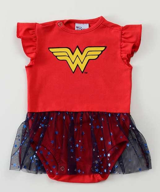 Image_Body Infantil Bebê Mulher Maravilha Liga da Justiça