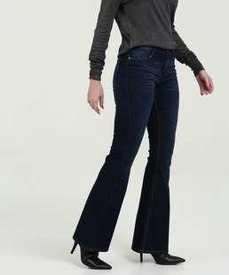 9a0f0462c Calça Feminina Jeans Flare Cintura Média Mari.