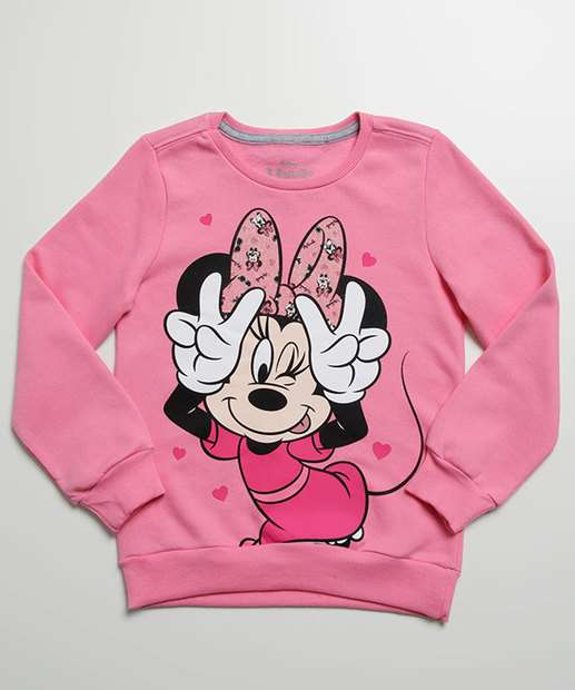 Image_Blusão Infantil Moletom Estampa Minnie Disney