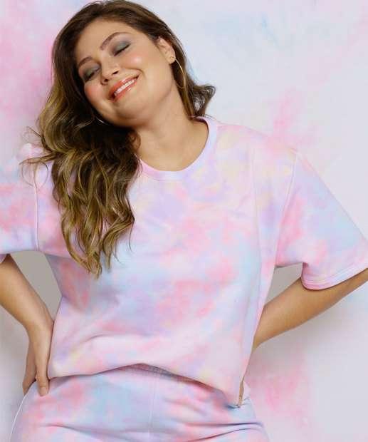 Image_Blusa Plus Size Feminina Moletinho Tie Dye Costa Rica