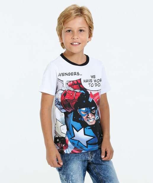 Image_Camiseta Infantil Manga Curta Capitão América Marv