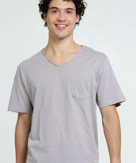 Image_Camiseta Masculina Botonê Bolso Manga Curta MR