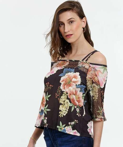 Image_Blusa Feminina Open Shoulder Estampa Floral
