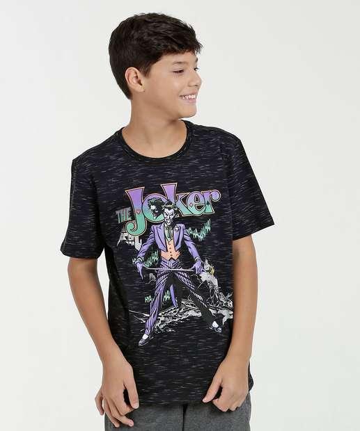 Image_Camiseta Juvenil Estampa Coringa Manga Curta Liga da Justiça