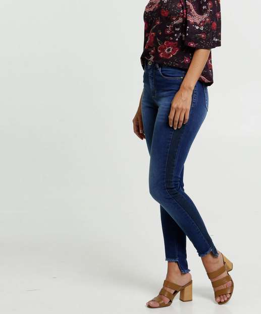 Image_Calça Jeans Skinny Feminina Barra Desfiada Razon