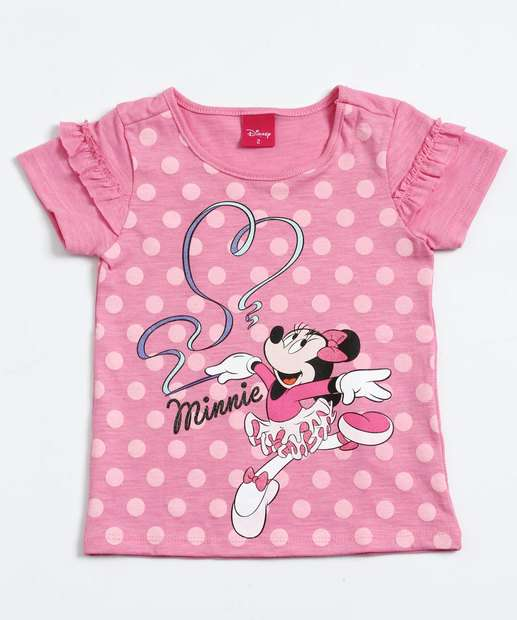 Image_Blusa Infantil Estampa Bolinhas Minnie Disney
