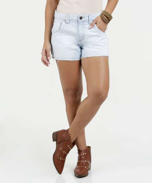 Image_Short Feminino Jeans Desfiado Marisa