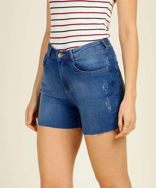 Image_Short Jeans Puídos Feminino Cintura Alta Marisa