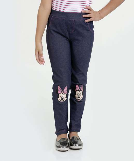 Image_Calça Infantil Jegging Estampa Minnie Disney