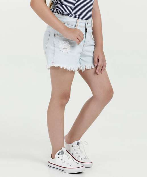Image_Short Infantil Jeans Puídos Marisa