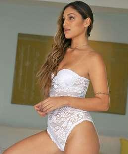 55ef039cf Body Feminino Sensual Renda Com Bojo Duloren