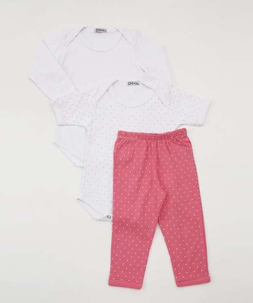 Image_Kit Body Calça Infantil Estampa Bolinhas