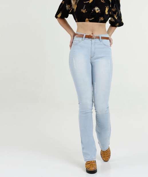 a823f643d Calça Feminina Reta Cintura Média Five Jeans