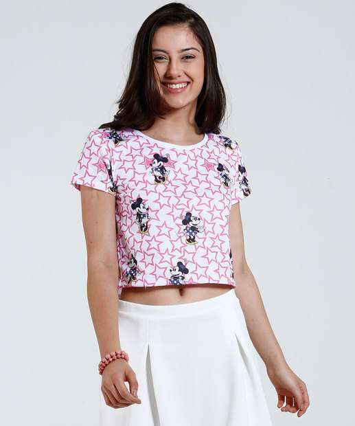 Image_Blusa Juvenil Cropped Minnie Disney